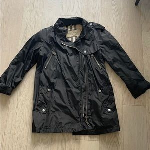 🎉 Burberry Nylon Moto Style Jacket